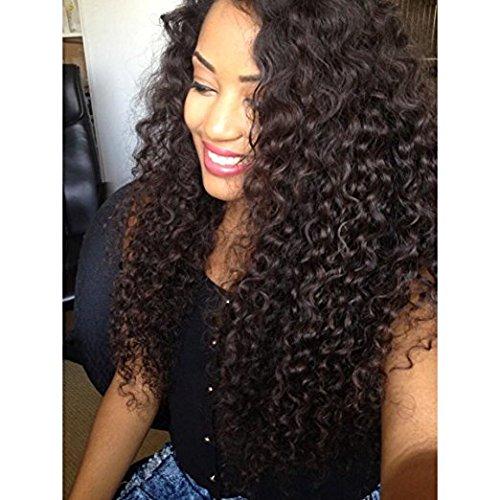 Ugeat Remy Clip in Haarverlängerungen Kinky Curly Human Hair Extensions 4# Dark Brown Brazilian Virgin Human Hair Extensions -