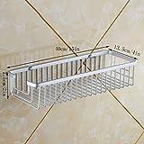 YXN Raum-Aluminiumbadezimmer-Einzelschicht-Haltewinkel-Quadrat-Metallkorb-Badezimmer-Eckwinkel-Erhöhung Deepen Wall Mount Basket (Größe : 40 cm)