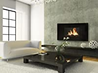 Celsi Electric Fire - LCD Curved - Wall Mounted Fireplace, 2 Heat Settings