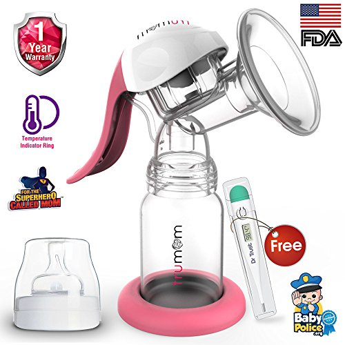 Trumom (USA) Manual Comfort Baby Breastmilk Breast Pump with Temparture Indicator Ring