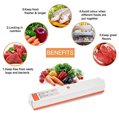 Folienschweißgerät, CrazyFire Vakuumierer für Lebensmittel, Fleisch,Früchte,Vakuum Maschine Einfach zu Bedienen inkl. 30 gratis Profi-Folienbeutel - 2
