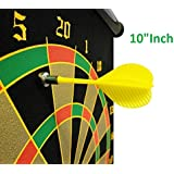Tavakkal High Magnetic Power With Double Faced Portable And Foldable Dart Game With 4 Colourful Pointed Darts, 10-inch