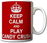 Keep Calm And Play Candy Crush Mug Cup Gift Retro
