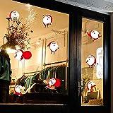 Littlefairy Weihnachtswandaufkleber,Schaufenster-Aufkleber Sticker dekorative Wand Aufkleber 2 Glasstücke Door
