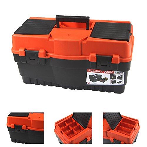 Werkzeugkoffer Formula A 600, 55x27x28cm, orange Werkzeugkiste Box
