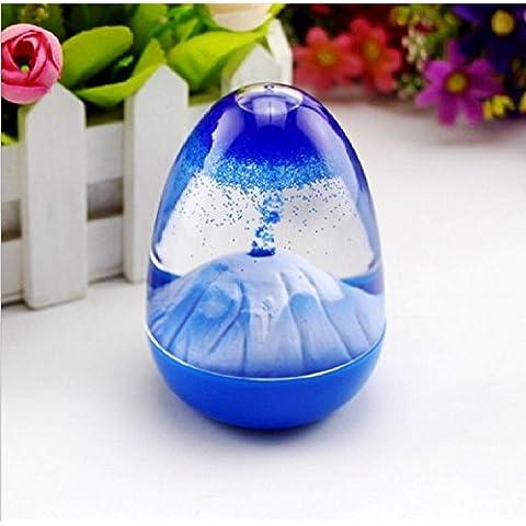 Xjoel guscio d'uovo ornamenti decorati per casa e ufficio blu
