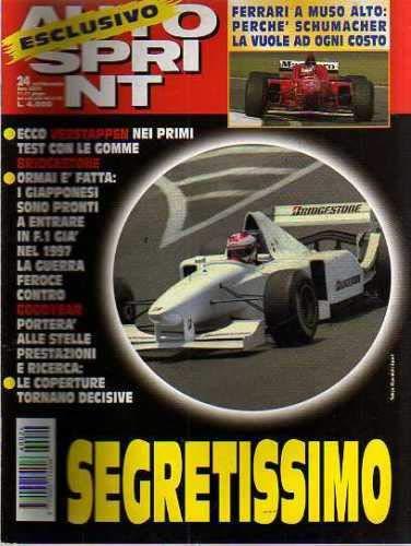 Autosprint Auto Sprint 24 Giugno 1996 Verstappen, Goodyear, Schumacher