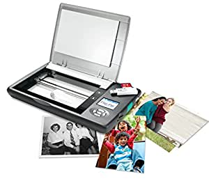 Flip-Pal mobile scanner with SD to USB adapter and 4GB SD card. StoryScans talking images and EasyStitch automatic stitching software included on SD card*. Ideal for genealogy and memory keeping.