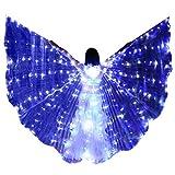 Xmiral Scialle Farfalla Ali Mantello Butterfly Wings Farfalla Angelo Ali (1 x Ali + 1 x Bastoncini telescopici,C)