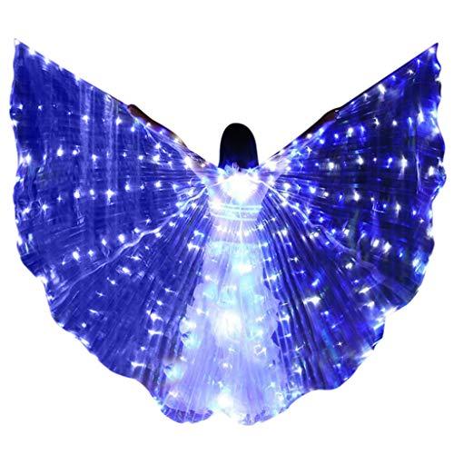 Dasongff Isis Wings Für Bauchtanz Tanz Schleier Flügel Schleier Zubehör Kostüme Fasching Karneval mit Metallstäben