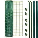 GAH Alberts Fixclip Zaun-Set grün 25 Meter Höhe 122 cm Fix Clip Zaunset