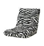 YouPue Bodenstuhl Bequem Falten Rückenlehne Leute Faul Couch Tatami RückenlehneSofa Stuhl Schlafzimmer Kleines Sofa Zebra Drucken
