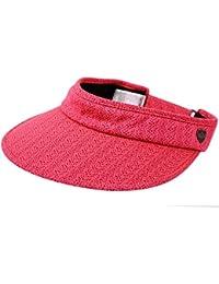 4289a5a8 UPF UV Sun Protection Wide Brim Beach Pool Visor Golf Cap Hat (HOT PINK)