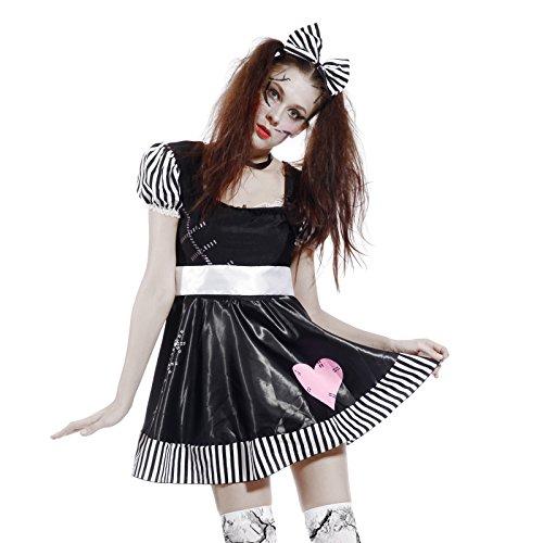 uem Damen Doll Japan Puppe Kostuem Lolita Kleid (Cheerleader-zombie Kostüme)