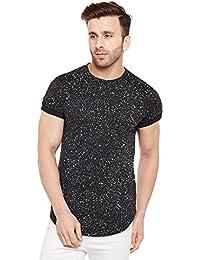 Le Bourgeois Paint Splatter Black Half Sleeve T-Shirt