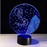 Zlxzlx 3D Led Lámpara De Mesa Constelación Starry LedCancer Night Light Dormitorio Romántico Lámpara RegalosLuz