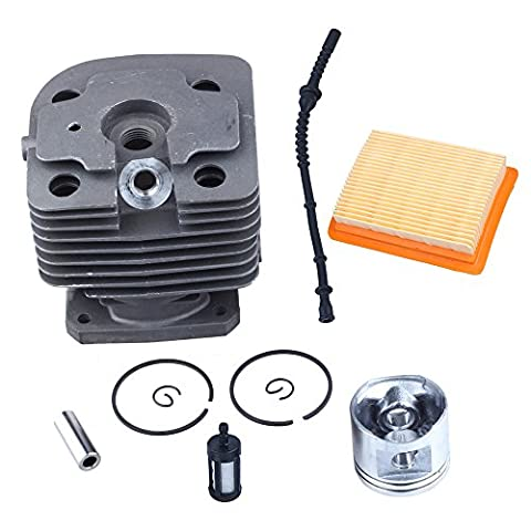 HIPA 40mm Kit Cylindre Piston et Filtre à Air Durite Essence pour Débroussailleuse Coupe-bordure STIHL FS400
