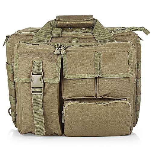 Zufriedenstellendes Produkt Outdoor Military Computer Schulter Messenger Bag Handtasche Aktentasche für 14-Zoll-Laptop-Kamera (Color : Khaki) -