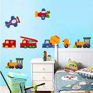 Fuloon neue auto wandsticker wandtattoo kinderzimmer 50 70cm wandtattoo kinderzimmer - Amazon kinderzimmer ...