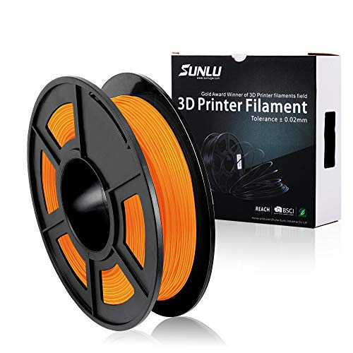 Preisvergleich Produktbild 3D Printer Filament TPU,TPU Filament 1.75 mm SUNLU,Low Odor Dimensional Accuracy +/- 0.02 mm 3D Printing Filament,1.1LBS (0.5KG) Spool,Orange TPU
