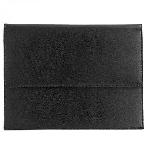 ROYALZ Leder Schutztasche für Dell XPS 13 9370/9365 / 9360 (2018) Schutzhülle 13,3 Zoll Sleeve Vintage Tasche Hülle Cover, Farbe:Schwarz