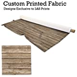 Textured Wood Design Digital Print Stoff
