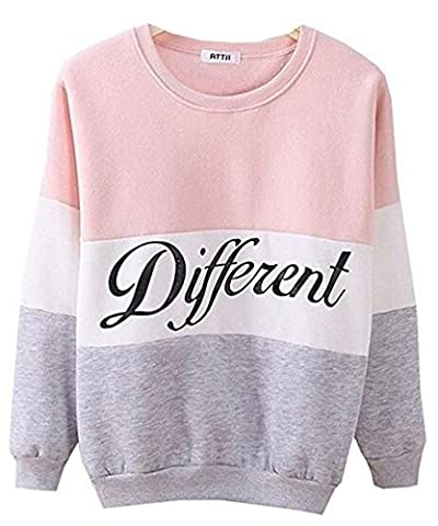 hqclothingbox Cute Hoodies Sweater Pullover Letters Diffferent Printed Mix Color