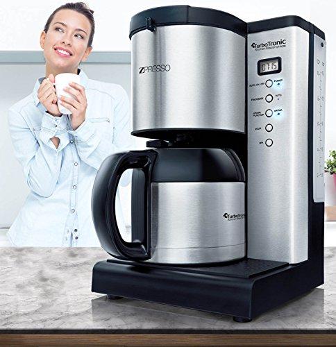 edelstahl kaffeemaschine mit thermoskanne und timer f r bis zu 15 tassen kaffee 1 25l. Black Bedroom Furniture Sets. Home Design Ideas