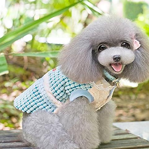 Pet de otoño ropa de Otoño/Invierno ColeccionesFalda de perroCanichePerro perros hembras calientes ropa falda princesa,Dulce