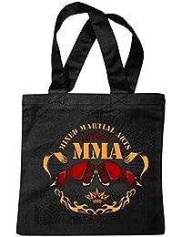 """Bolsillo Bolso Bolsa """"HARDCORE Fightclub MMA ARTE material mezclado Fightclub lucha de la calle de karate Boxeo Kick Boxing JUDO"""" Bolsa de deporte Bolsas de Negro"""