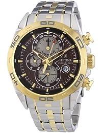 Festina Herren-Armbanduhr TIMELESS Chronograph Quarz Edelstahl F16655-4
