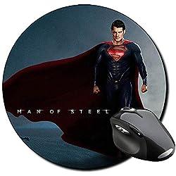 El Hombre De Acero Man Of Steel Superman H Alfombrilla Redonda Round Mousepad PC