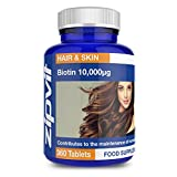 Biotin 10,000mcg | 360 Tablets | Highest Strength | For Healthy Hair | FULL YEARS SUPPLY by Zipvit