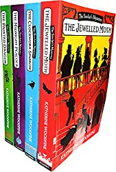 Katherine Woodfine The Sinclair's Mysteries 4 Books Collection Pack Set (The Midnight Peacock, The Painted Dragon, The Clockwork Sparrow, The Jewelled Moth)
