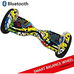 "Dragon Hoverboard con Ruedas de 10"" Scooter eléctrico Self-Balancing Self Blance Scooter Monopatín eléctrico Smart Self Balance Board Dibujo en Color (Hip-Hop)"