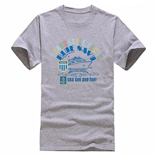 Men's Anchors Printed O Neck Cotton Tee Shirt 4
