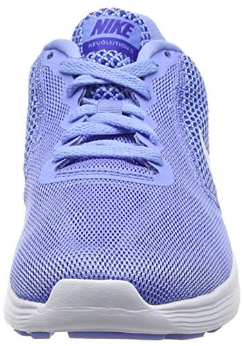 Nike Revolution 3, Chaussures de Running Entrainement Femme Bleu (Chalk Blue/White/Conco Red)