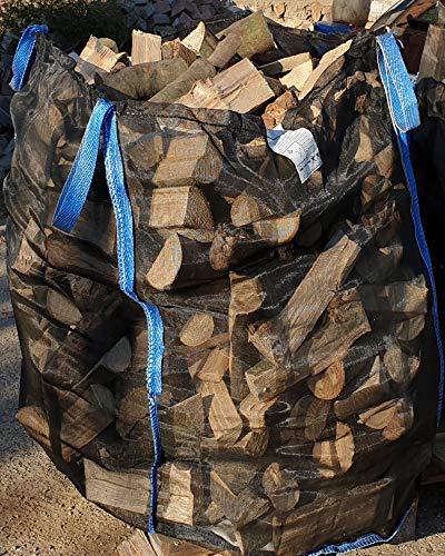 5 x Hochwertiger Holz Big Bag Boden geschlossen * speziell für Brennholz * Woodbag, Holzbag, Brennholzsack * 100x100x120cm * voll Netzgittergewebe * Holz trocknen + transportieren