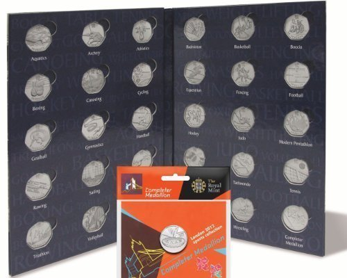 Lighthouse PRESSO Olympic 50p Sports Coin Album/Folder + 1 x New Sealed Completer Medallion by Lighthouse Presso (Sport-medallion)