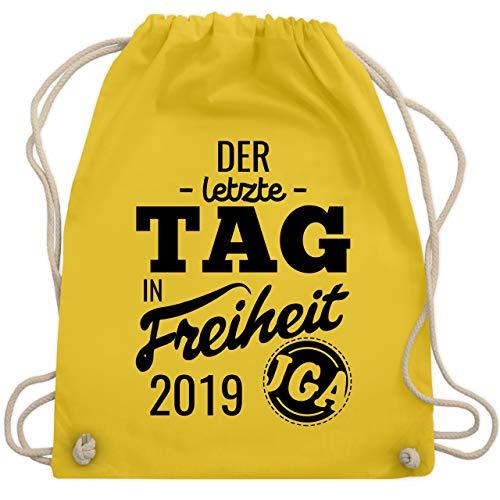 JGA Junggesellinnenabschied - Der letzte Tag in Freiheit 2019 - Unisize - Gelb - WM110 - Turnbeutel & Gym ()