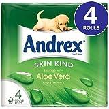 Andrex Papier Toilette avec de l'aloe vera et de la vitamine E 8x 4par paquet
