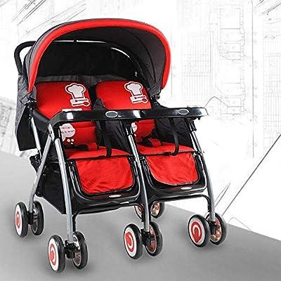 Haojiechunxiang Baby Good Twins Cochecitos de bebé Gemelos Pueden Sentarse reclinables Segundo niño Doble Amortiguador