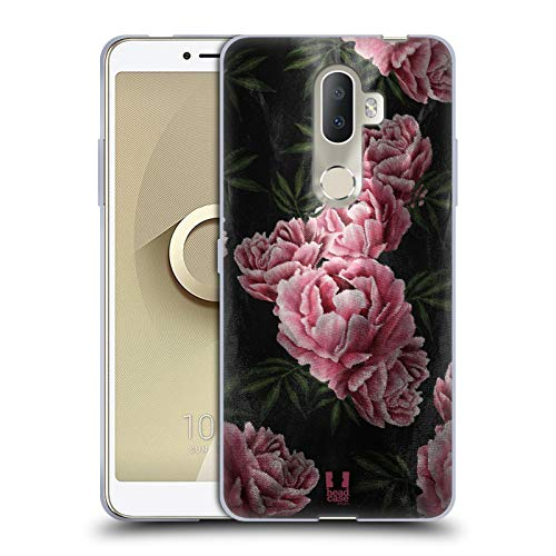 Head Case Designs Pink Rosen Satin Blumiger Druck Soft Gel Hülle für Alcatel 3V (2018)