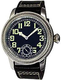 PARNIS 2178 - Reloj de Pulsera para Hombre con Cuerda Manual y luminiscente, diámetro de