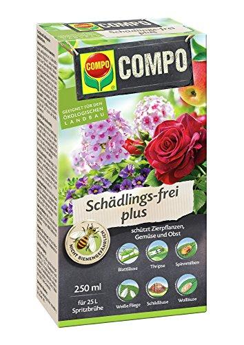 Schädlingsbekämpfung (COMPO Schädlings-frei plus, Bekämpfung von Schädlingen an Zierpflanzen, 250 ml)