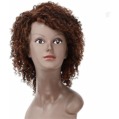 Meydlee ParruccheSexy Formula mongolo Afro capelli crespi ricci sintetici parrucche