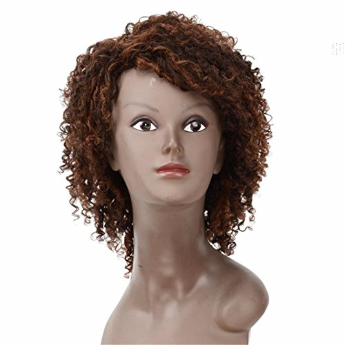Meylee ParruccheSexy Formula mongolo Afro capelli crespi ricci sintetici parrucche