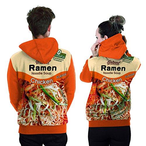 Belsen -  Felpa con cappuccio  - Uomo Ramen orange