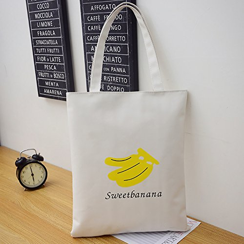 Bluelans, Borsa tote donna Black Strawberry 31cm x 1cm x 39cm/12.20 x 0.39 x 15.35 White Banana