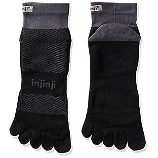 Injinji Run Midweight Socks Mini Crew Black Grey 40.5-44